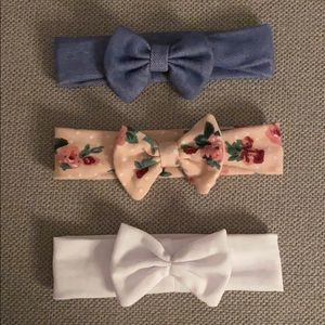 Three baby girl headbands